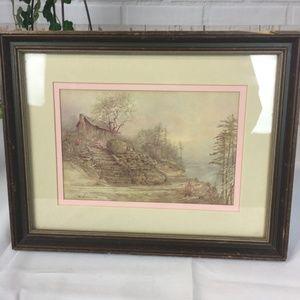 Vtg Ben Hampton Signed Print Appalachian Spring